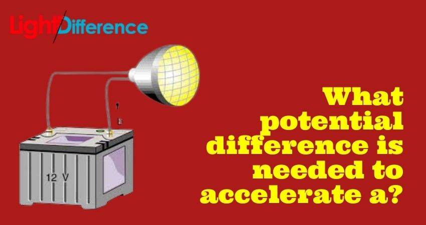 What potential difference is needed to accelerate a