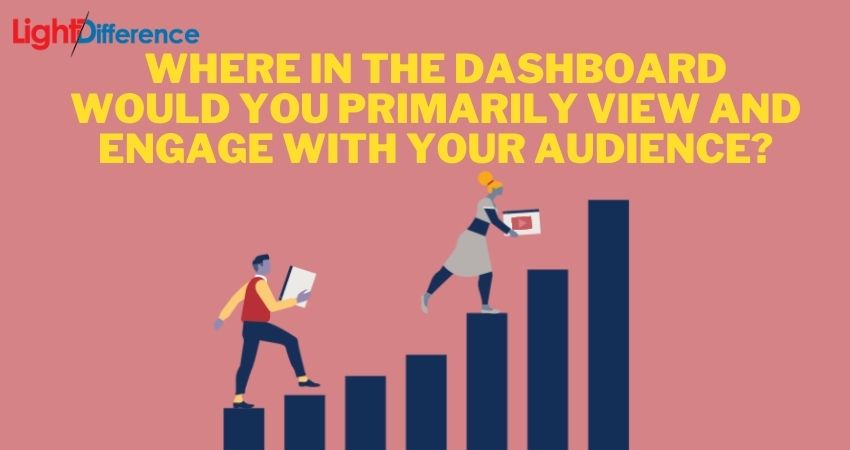 Where in the dashboard would you primarily view and engage with your audience