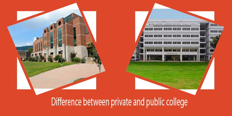 Difference between private and public college