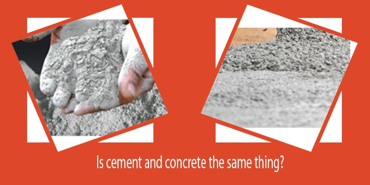 Is cement and concrete the same thing