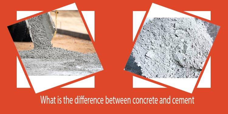 What is the difference between concrete and cement