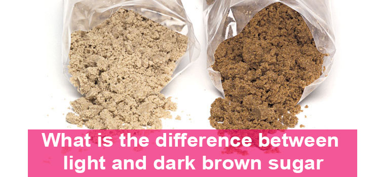 What is the difference between light and dark brown sugar